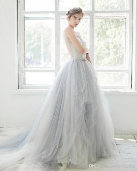light-grey-wedding-gowns-sheer-scoop-neck